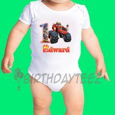 Blaze and The Monster Machines Boy's 1st Birthday Shirt
