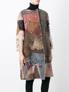 By Walid hand dyed patchwork coat Fashion Art, Boho Fashion, Fashion Design, Boro, By Walid, Handmade Clothes, Scarf Styles, Dress Patterns, African Fashion