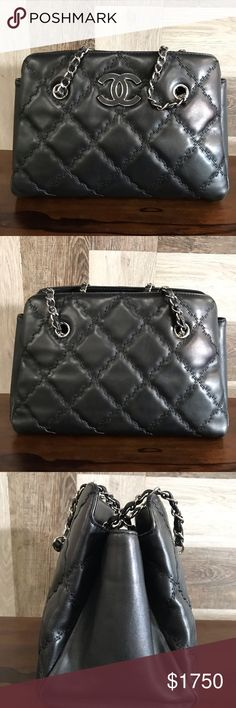 b2b53b9d1e68 Authentic CHANEL open top accordion shoulder bag Good preowned condition CHANEL  Bags Shoulder Bags
