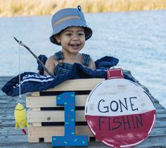 I loooove when I get pics of our signs in use. This has to be an all time fav. I cannot handle the cuteness of this!!! A customer and friend sent me this picture from their son's photoshoot today. We made the Gone Fishin' bobber sign for her sons fish themed birthday. . . . #fishingbobber #fishbirthday #photoprops #firstbirthday #momlife #fishing #signs #handmadeishappiness #gonefishing #coastalliving #beachlife #birthdaydecor