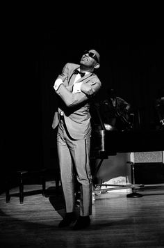 Black and White Candid Portraits of Celebrities from the 1960s and 1970s by Steve Schapiro- Ray Charles, New Jersey, 1966