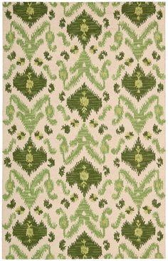 Siam SIA01 Ivory Green Rug