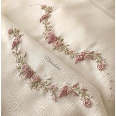 Wonderful Ribbon Embroidery Flowers by Hand Ideas. Enchanting Ribbon Embroidery Flowers by Hand Ideas. Brazilian Embroidery Stitches, Types Of Embroidery, Hand Embroidery Stitches, Silk Ribbon Embroidery, Crewel Embroidery, Hand Embroidery Designs, Embroidery Thread, Cross Stitch Embroidery, Embroidery Supplies