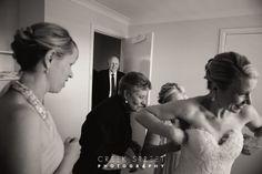 Bride getting ready - Dad seeing bride. #bride #wedding #brideanddad