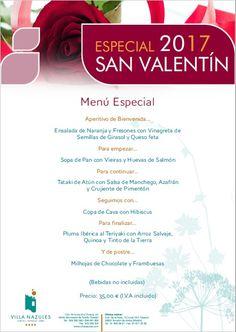 Para conquistar a tu pareja,... para conquistar tu paladar.... nuestra propuesta de Menú de San Valentín... www.villanazules.com