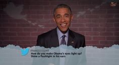 Watch Obama Read Mean Tweets About Himself on Kimmel  - Esquire.com