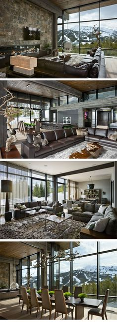 Gorgeous mountain home. Don't often find ultra-modern to be warm and inviting, but this sure is.