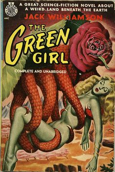 'The Green Girl' pulp sci fi novel cover from retrogoddess