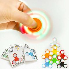 New 3 Pieces Luminous Fidget Spinner Toy Funny Anti Toy EDC Rotary Pressure Reducing Gyroscope Spinning Top Gift For Children