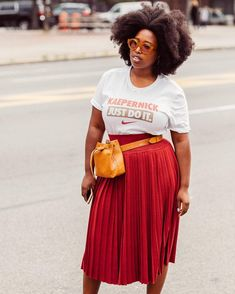 Street Style Curvy Street Style, Street Style Blog, Street Chic, Collage Vintage, Spring Trends, Plus Size Looks, Curvy Fashion, High Fashion, Natural Hair Styles