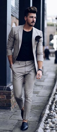 9 Beyond Cool Street Styles Looks For Men - Dress World for Men Tall Men Fashion, Mens Fashion Blog, Mens Fashion Suits, Mens Suits, Suit For Men, Man In Suit, Fashion Styles, Men's Fashion, Fashion Black