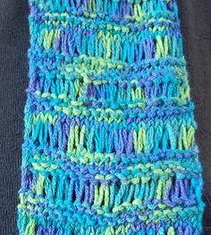 Panda Cotton Drop Stitch Scarf - 1 ball scarf - free scarf knitting pattern  -  Crystal Palace Yarns