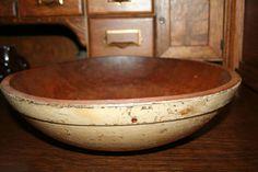 RARE AAFA 19th Century Early Primitive Buttermilk Wood Dough Bowl | eBay