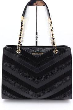 b4d51a3be2 NWT Michael Kors Susannah Black Mixed Leather Large Shoulder Tote Bag  448   MichaelKors  ShoulderBag