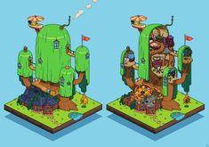 PixelArtus - The Power of Pixel Art • Adventure Time - Treehouse Pixel Artist: Gengar ...