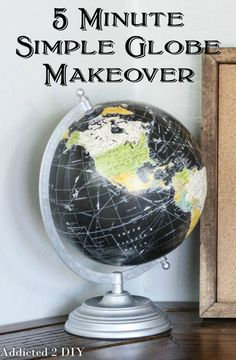 LOVE this simple globe makeover!  Such an easy way to make it fit in with the rest of the decor!