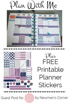 Plan With Me Plus Free Printable Planner Stickers for MAMBI Happy Planner-Planner Squad