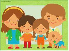 """Englisch in der Grundschule:: Flashcards """"family"""""""