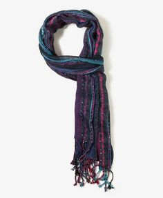 Sequined Metallic Stripes Scarf | FOREVER 21 - 1027704781