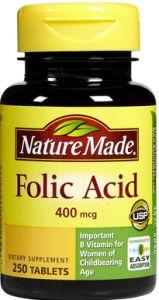 natural hair growth vitamins folic acid ,biotin & vit e