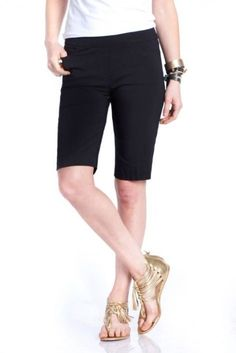 "Need new golf apparel? SlimSation takes pride in offering women's golf clothing for all shapes and sizes. Buy this Black  SlimSation Ladies 20"" Pull On Golf Shorts today from Lori's Golf Shoppe!"