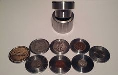 Check out this item in my Etsy shop https://www.etsy.com/listing/242327452/coin-ring-center-punch-kit-175-for