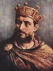 Mieszko II Lambert (990 - 1034). King of Poland from 1025 until 1031, and then Duke of Poland from 1032 until 1034. He was forced to flee Poland in 1031, but returned in 1032. He married Richeza of Lotharingia and had three children.