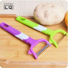Ferramentas de cozinha barato doce cor grande lâmina de aço inoxidável descascador de frutas pepino cenoura batatas paner cozinha gadgets(China (Mainland))