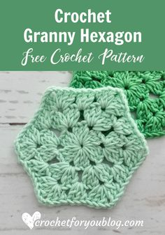 Crochet Granny Hexagon Free Pattern - Crochet For You by erika How to crochet granny hexagon. This free crochet pattern and tutorial great for beginner. Hexagon Crochet Pattern, Crochet Hexagon Blanket, Crochet Granny Square Afghan, Crochet Afghans, Crochet Squares, Crochet Blanket Patterns, Crochet Stitches, Free Crochet, Free Pattern