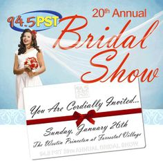 You are cordially invited to the 20th annual PST BRIDAL SHOW on Sunday, January 26, 2014 from 11 a.m. to 5 p.m. at The Westin Princeton at Forrestal Village, 201 Village Boulevard in Princeton, NJ! Don't miss Central New Jersey's #1 Bridal Extravaganza! Meet lots of local wedding professionals, attend runway Bridal Fashion Shows at 12 pm and 2:30 pm, win tons of great door prizes & more! Admission is FREE for Brides ($5.00 for guests). #njwedding #pstbridalshow #weddingplanning…