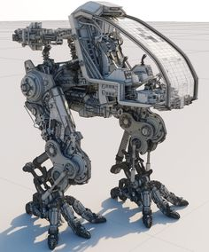 Mech Design.Primarily modeled in ZBrush, with some elements in C4D. Roughly 22 million polygons - W/Decimation.