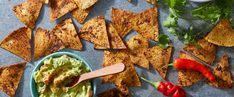 Taco-Spiced Tortilla Chips - Unlike store-bought chips, these seasoned tortilla chips have no artificial ingredients and are ove - Vegan Appetizers, Vegan Snacks, Easy Snacks, Vegan Recipes, Healthy Snacks, Appetizer Recipes, Sweet Potatoe Bites, Potato Bites, Sweet Potato Wedges