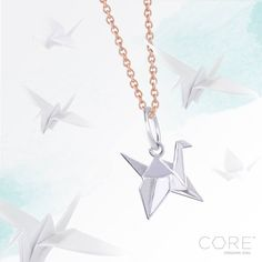 1,000 years of happiness - Origami Owl Core Paper Crane charm and chain. Core items are sterling silver with 18k gold or rose gold plating. Check out the CORE line at https://lauriefranklin.origamiowl.com/