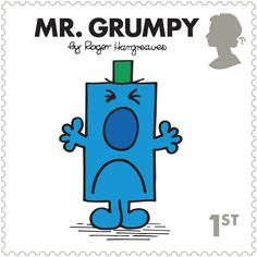 Mr. Grumpy - MR. MEN LITTLE MISS Stamp Set    All 10 Special Stamps feature the original illustrations from the books and characters we know and love. Brought to you in pristine condition, ready to be collected.