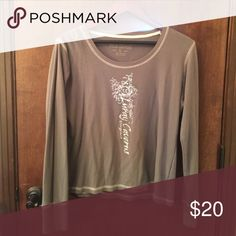 Henley This Henley is from Luray Caverns in Virginia. The distressed look is intentional and his item has only been worn twice. Layer this under you favorite sweater/hoodie or wear this light weight Henley on a cool summer night with jeans. Tops Tees - Long Sleeve