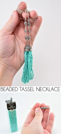 DIY Beaded Tassel Necklace