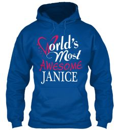 Tshirt Name Janice !!! Royal Sweatshirt Front