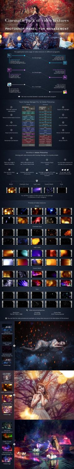 Cinematic Pack of Video Textures #photograpers #manipulation #32bit #unique #DigitalPhotography #Photography #advanced #winder #web #instagramatnsettings #analogphotography #lights #PhotoshopExtensions #PhotoshopAddons #doubleexposure #PhotoshopAddons #PhotoManipulation #computergraphics #warmth Light Leak, Lens Flare, Double Exposure, Photoshop Actions, Photo Manipulation, Digital Photography, Overlays, Photo Editing, Vibrant Colors