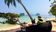 Loving our office! Thailand Koh Ngai is bounty at its best