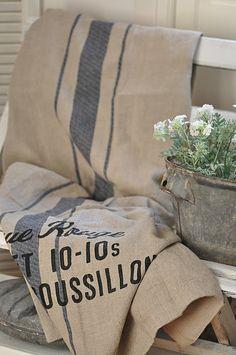 .beautiful grain sack