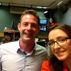 Liz and Conor Brophy at RTE radio studio! Irish Times, Studio, News, Study