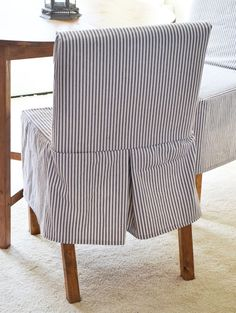Easiest Parson Chair Slipcovers - Ana White blog has tons of home DIY plans