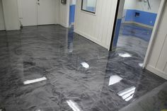 Pure Metallic - Metallic Epoxy Floor Coating Pictures - the best - . - Epoxy for all - Welcome Haar Design Concrete Art, Stained Concrete, Polished Concrete, Concrete Floors, Decorative Concrete, Home Design, Floor Design, Interior Design, Showroom Design
