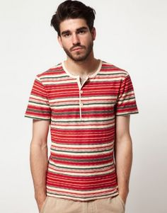 vintage inspired striped henley unique to the vintage label. Another way to launch vintage would be to develope vintage inspired graphic tee's that pay tribute to rock bands and music festivals....