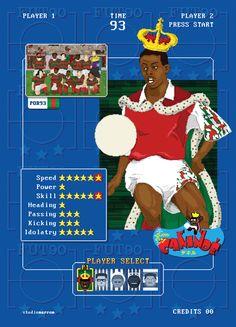 Pôsteres feitos para o site www.studiomarrom.comHomenagem aos jogos de video-game dos anos 90 e também aos craques do futebol paulista que vi jogar....Em breve os craques dos outros grandes clubes brasileiros.