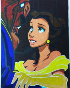 Beauty & The Beast from my Disney Colour By Numbers