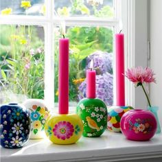 Colorful candles (maybe German) kn