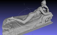 Reclining Todd, derived from Reclining Naiad of the Met Museum during #Met3D
