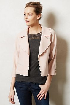 Scalloped Pearl Jacket by Elevenses