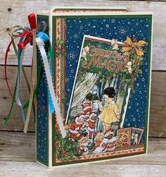 File Folder Mini Graphic 45 Christmas Magic Tutorial ~ Now Available! Christmas Albums, Christmas Cards, Scrapbook Albums, Scrapbook Paper, Magic Tutorial, Handmade Scrapbook, Fun Projects, Project Ideas, Craft Ideas